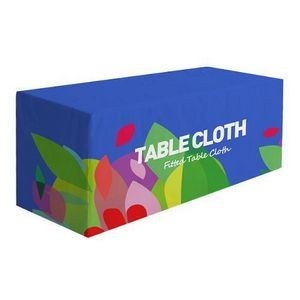 6' Premium Fitted Table Cloth 4-sided Cover Tablecloth Custom Logo Full Color Dye Sublimation Print