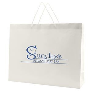 "White Gloss Laminated Eurotote Bag (20""x6""x16"")"