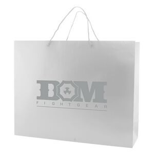 "White Matte Laminated Eurotote Tote Bag (20""x6""x16"")"