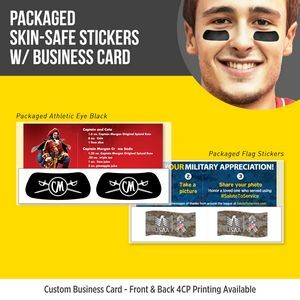Packaged Athletic Eye Black (1 pair) with Custom Business Card