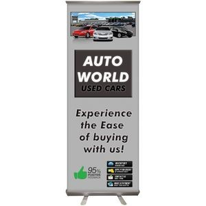"24""x 63"" Custom Digitally Printed Polypropylene Retractable Banner Stand"
